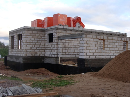 постройка из газобетона